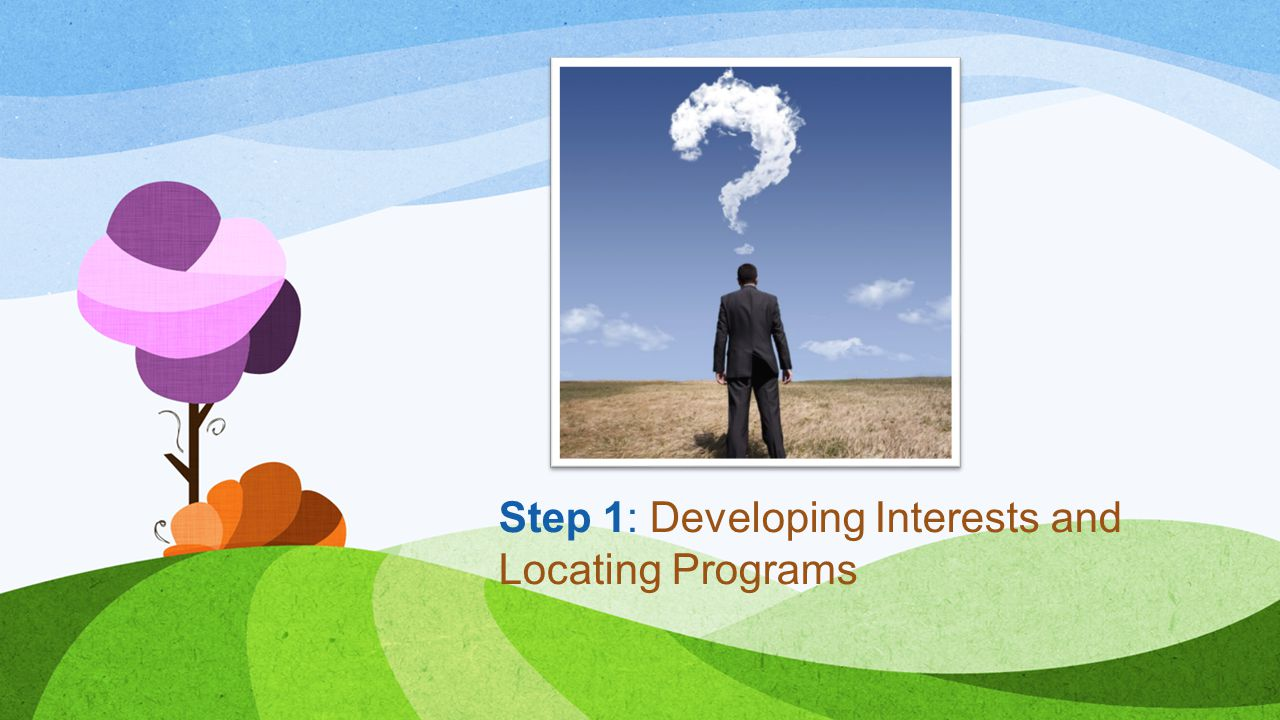 Step 1: Developing Interests and Locating Programs