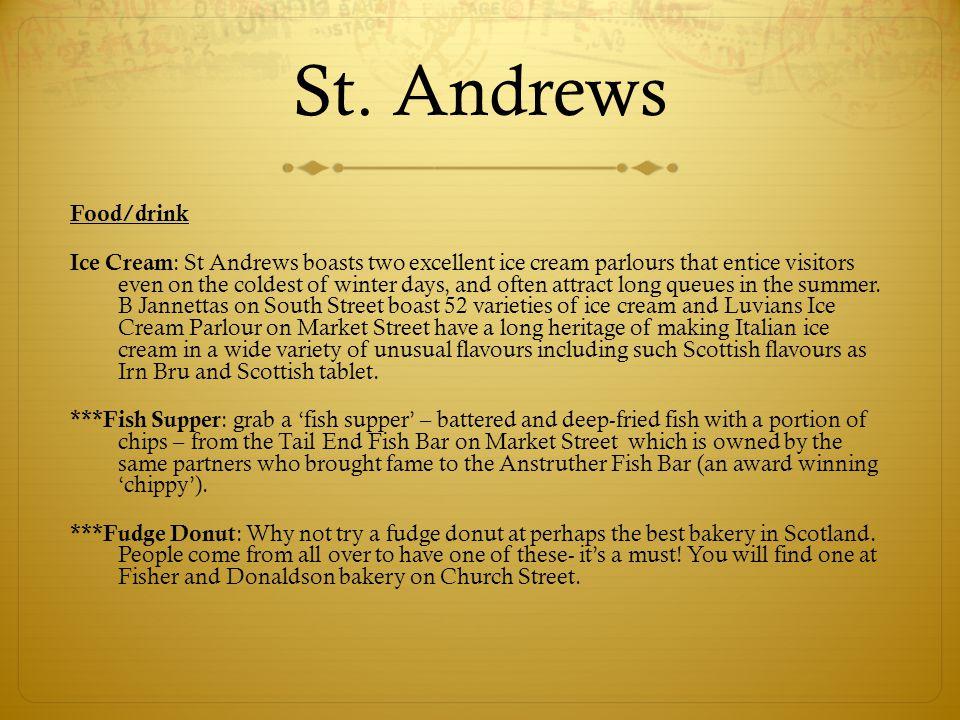 St. Andrews Food/drink.