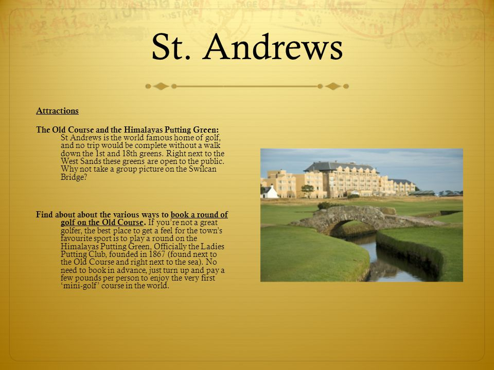 St. Andrews Attractions