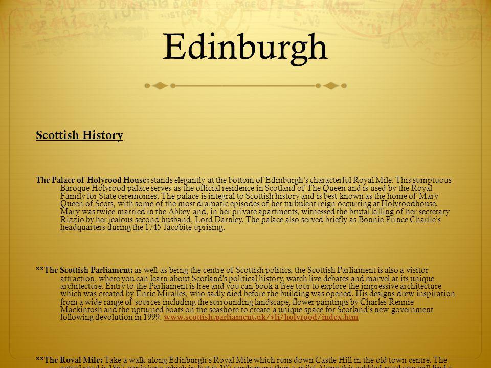 Edinburgh Scottish History