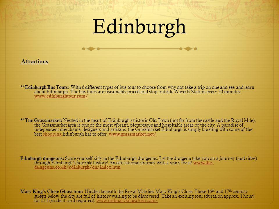 Edinburgh Attractions.