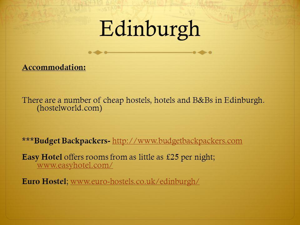 Edinburgh Accommodation: