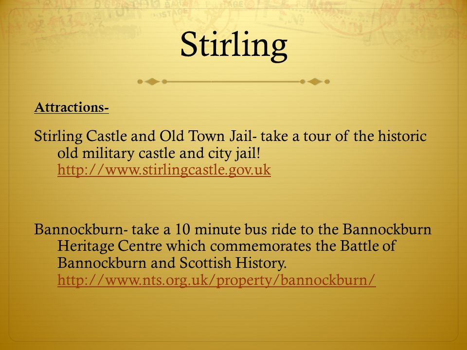 Stirling Attractions-