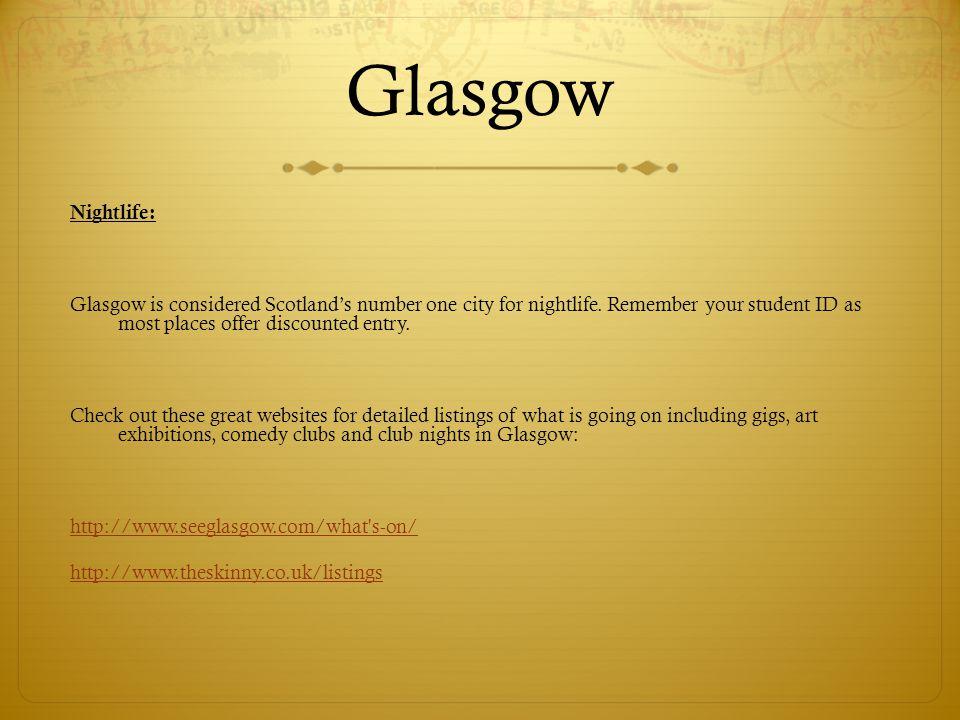 Glasgow Nightlife: