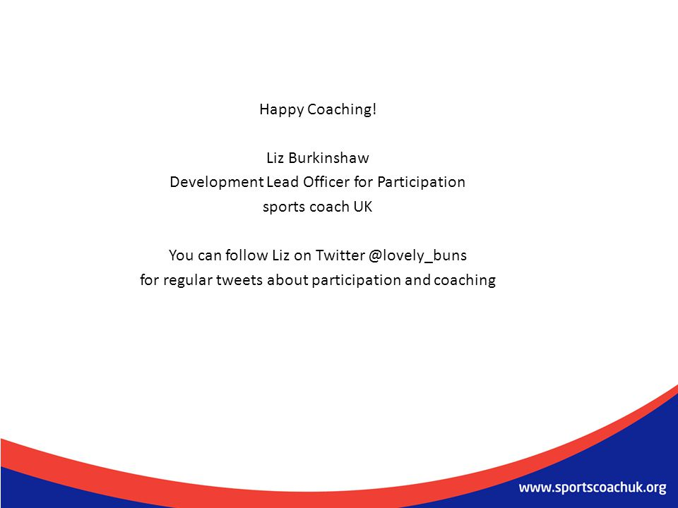 Development Lead Officer for Participation sports coach UK