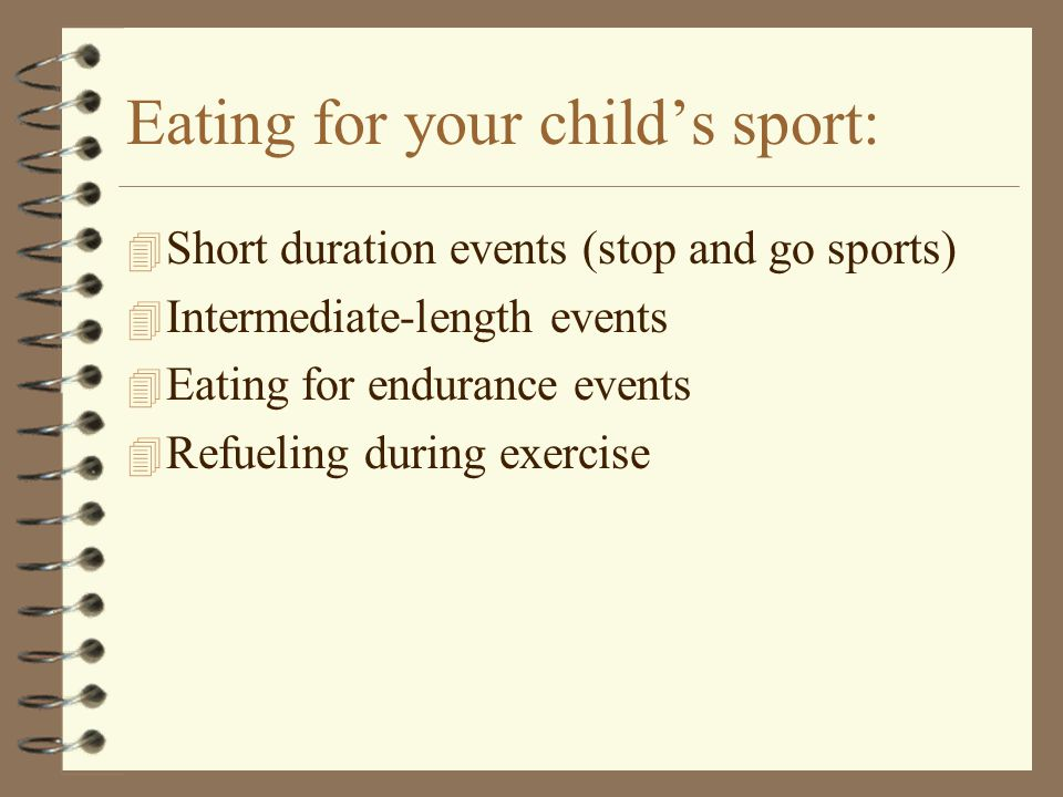 Eating for your child's sport:
