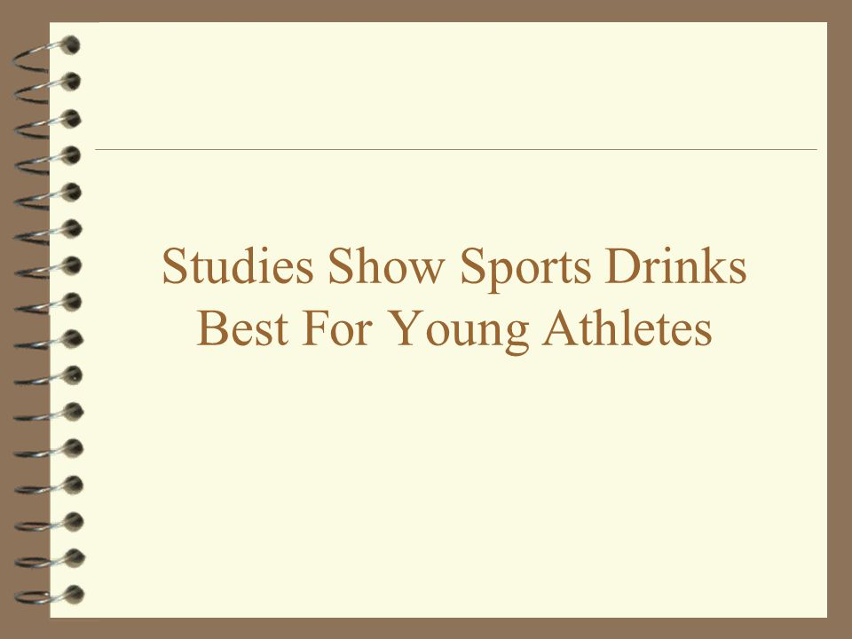 Studies Show Sports Drinks Best For Young Athletes