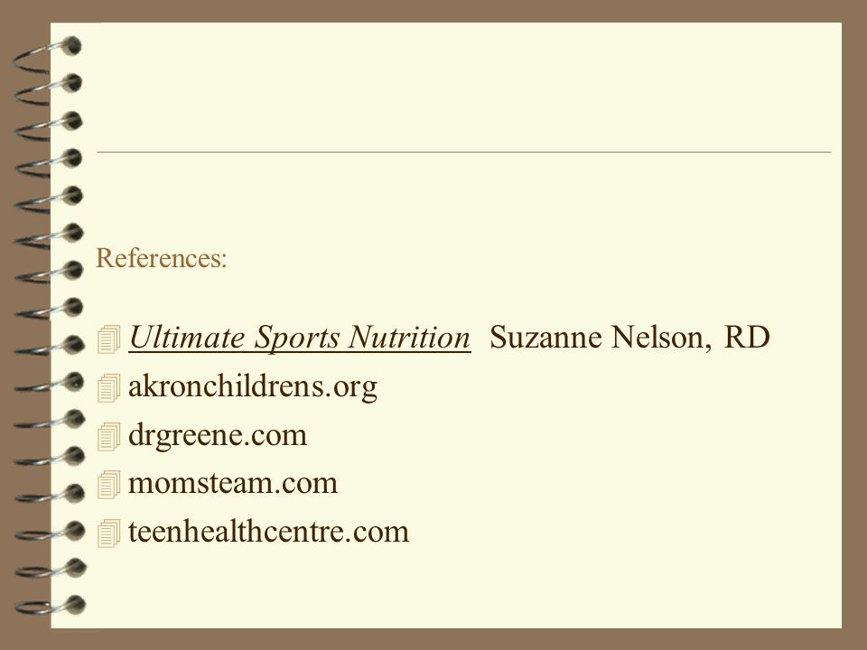 Ultimate Sports Nutrition Suzanne Nelson, RD akronchildrens.org