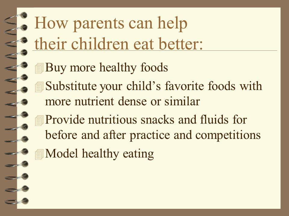 How parents can help their children eat better: