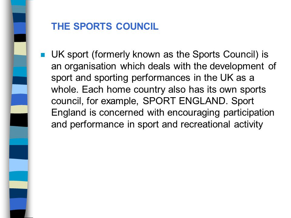 THE SPORTS COUNCIL