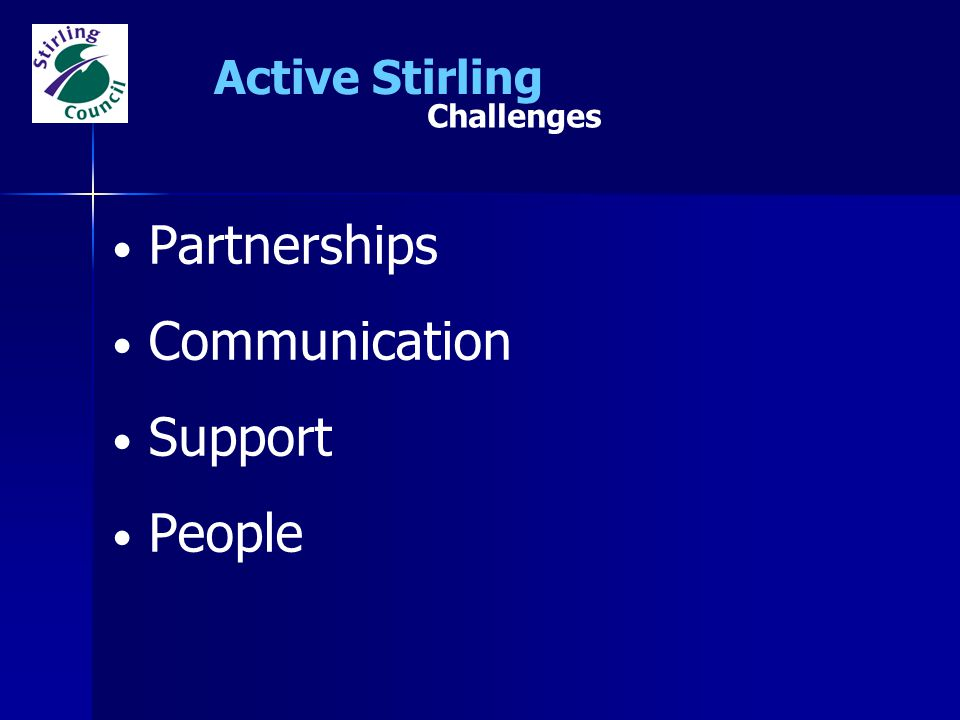 Active Stirling Challenges Partnerships Communication Support People
