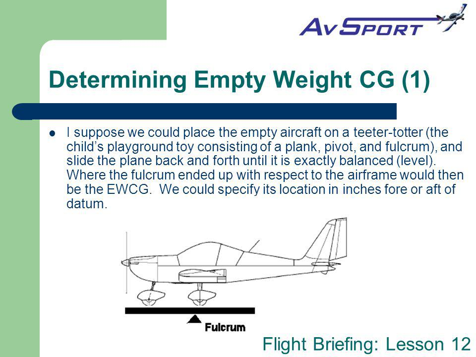 Determining Empty Weight CG (1)