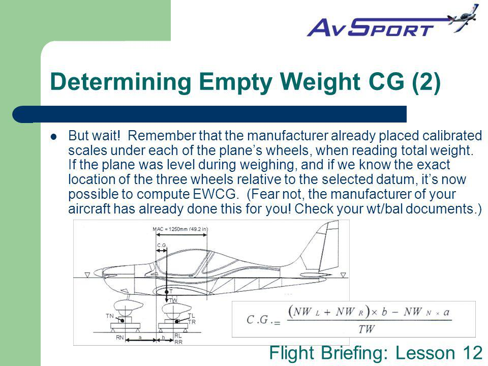 Determining Empty Weight CG (2)