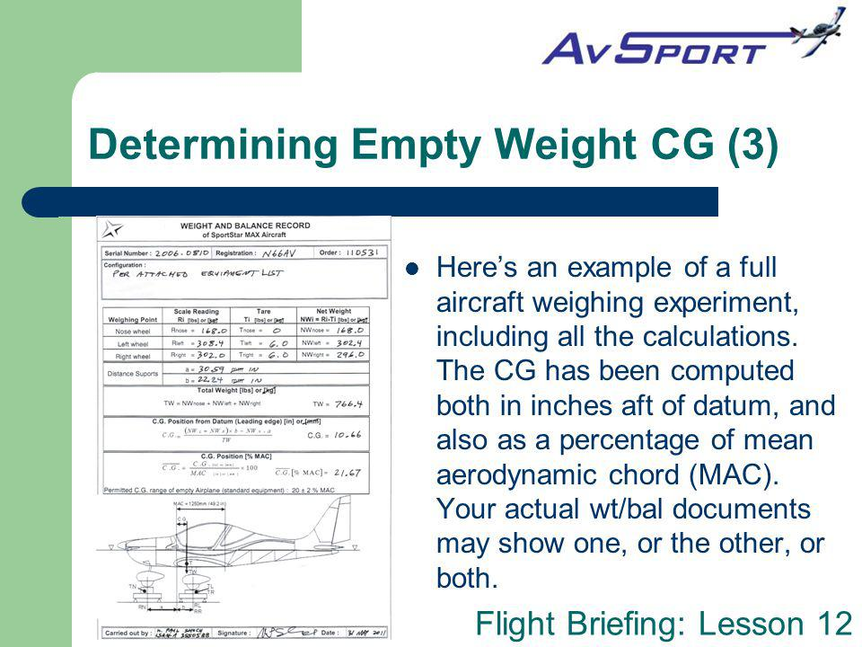 Determining Empty Weight CG (3)