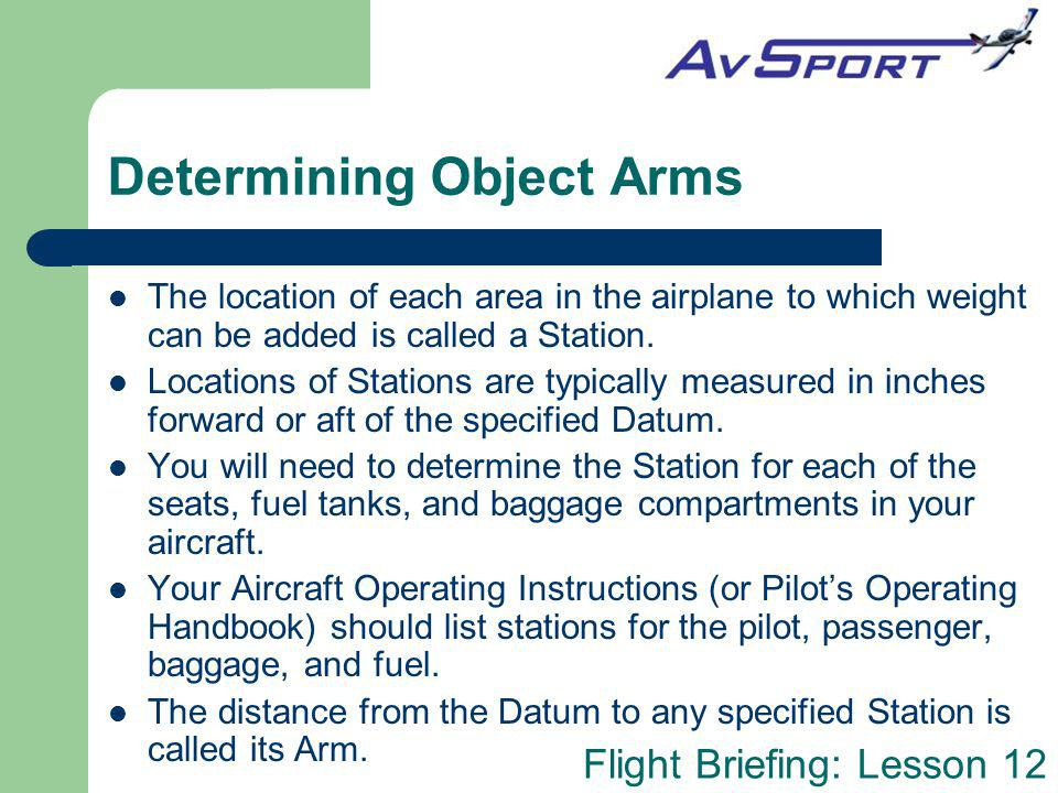 Determining Object Arms