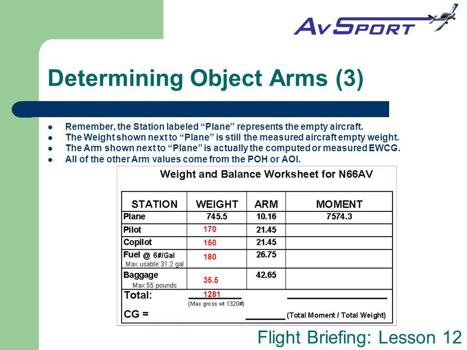 Determining Object Arms (3)