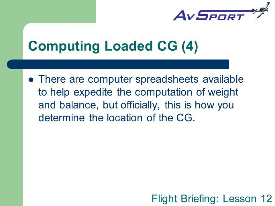 Computing Loaded CG (4)