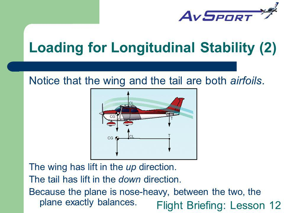 Loading for Longitudinal Stability (2)