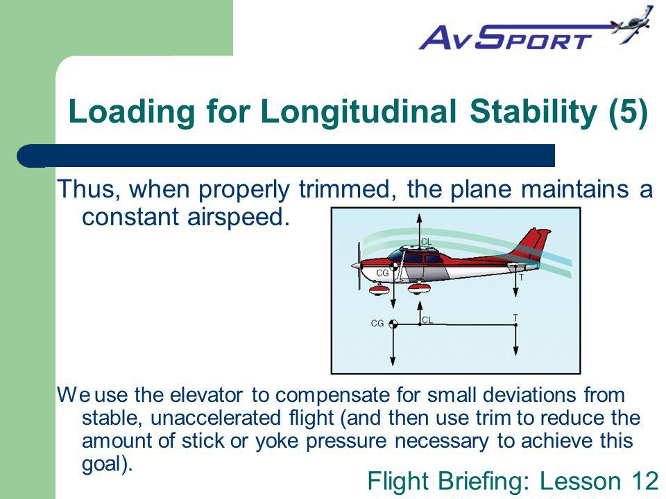 Loading for Longitudinal Stability (5)