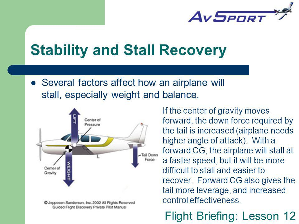 Stability and Stall Recovery