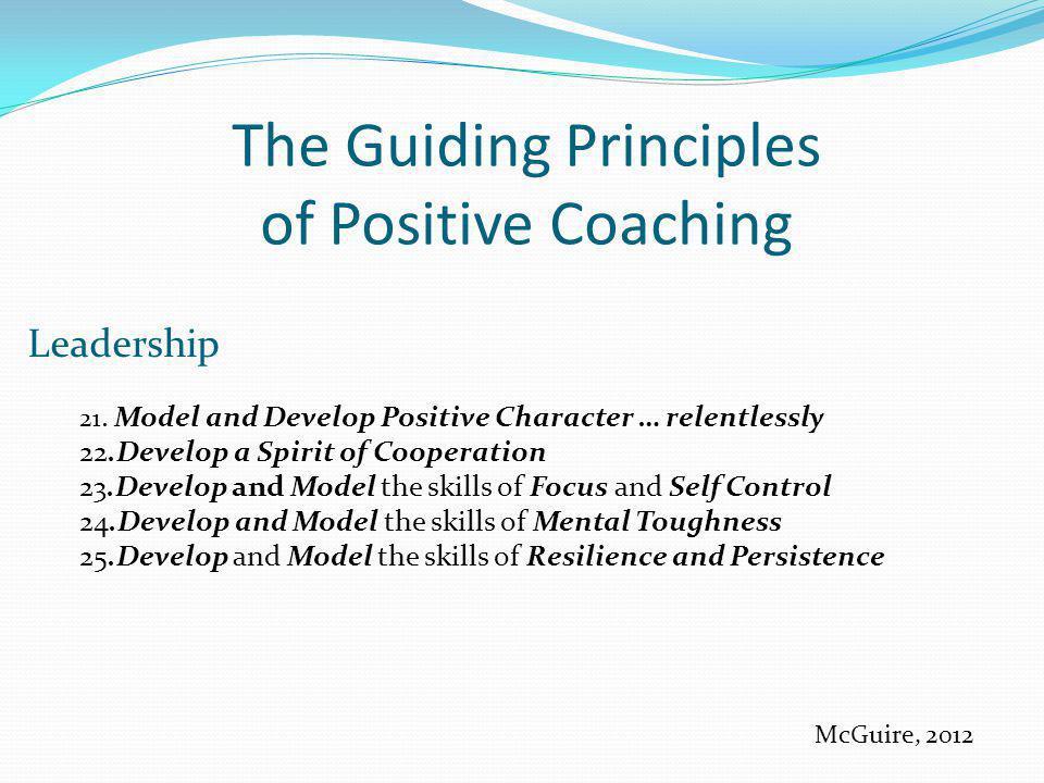 The Guiding Principles of Positive Coaching