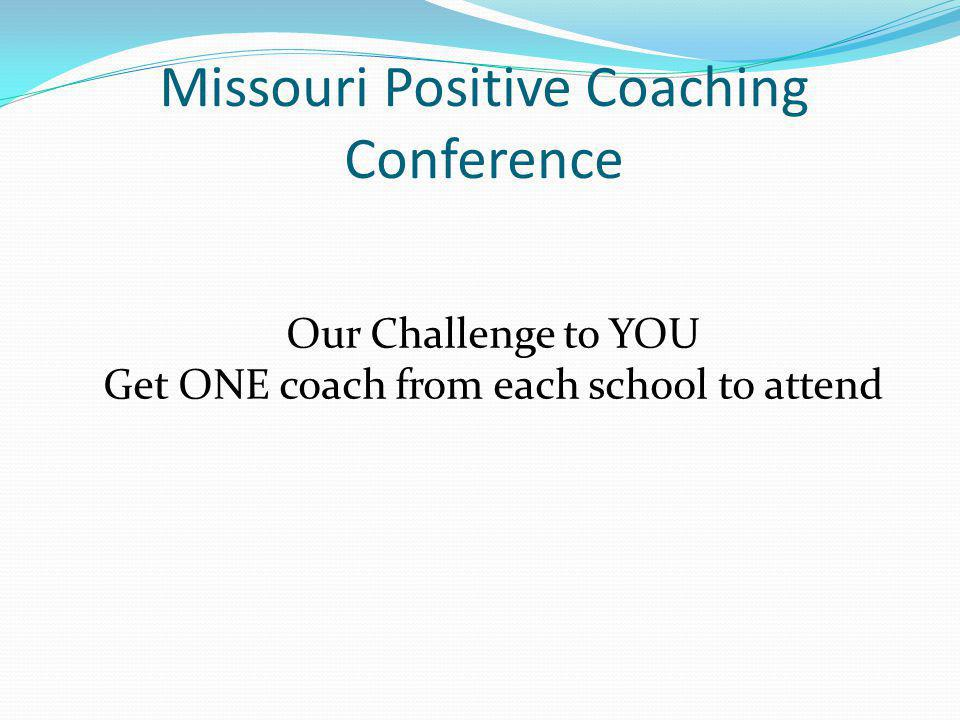 Missouri Positive Coaching Conference