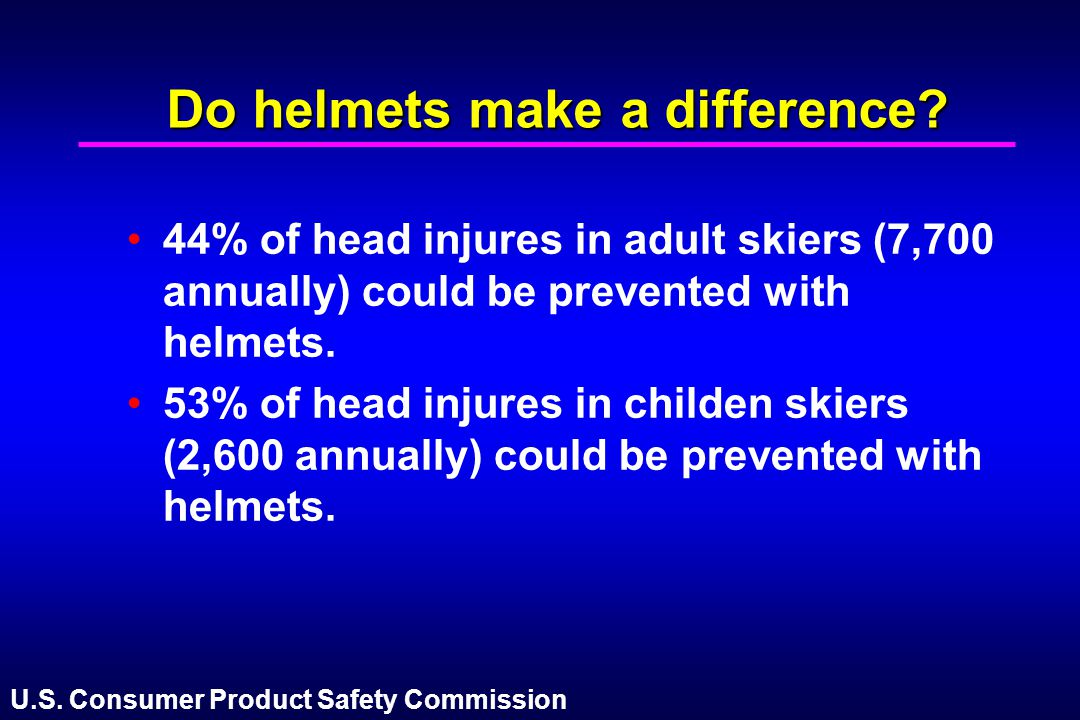 Do helmets make a difference
