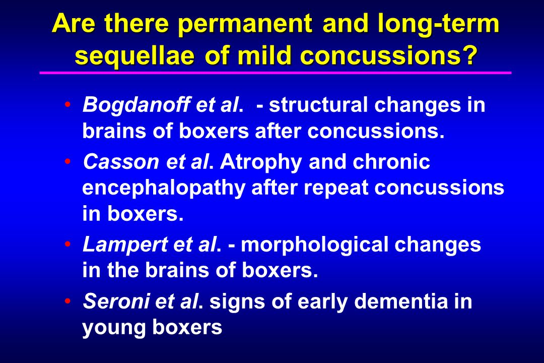 Are there permanent and long-term sequellae of mild concussions