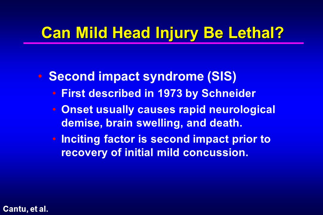 Can Mild Head Injury Be Lethal