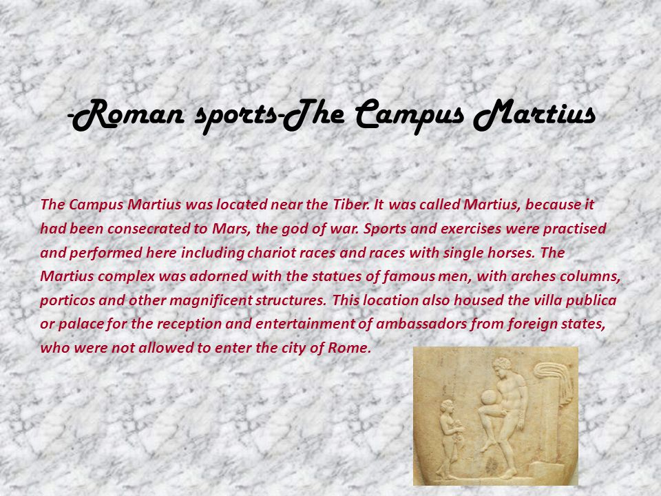 -Roman sports-The Campus Martius