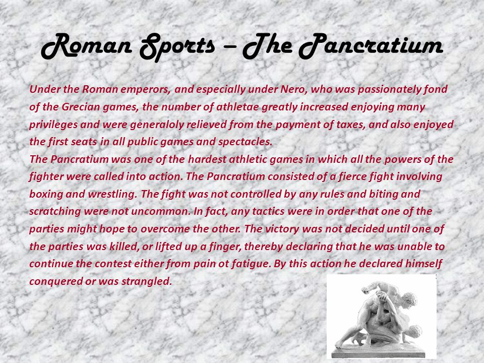 Roman Sports – The Pancratium