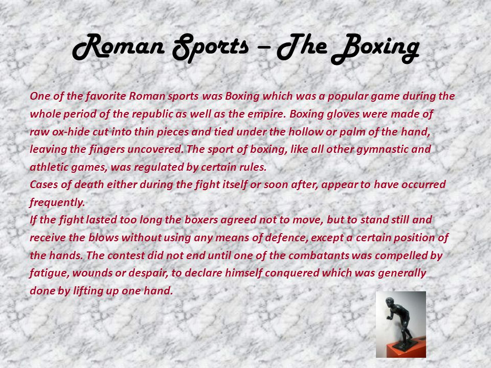Roman Sports – The Boxing