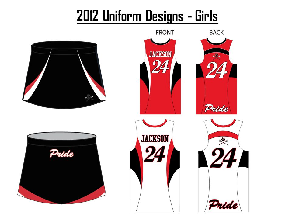 2012 Uniform Designs - Girls