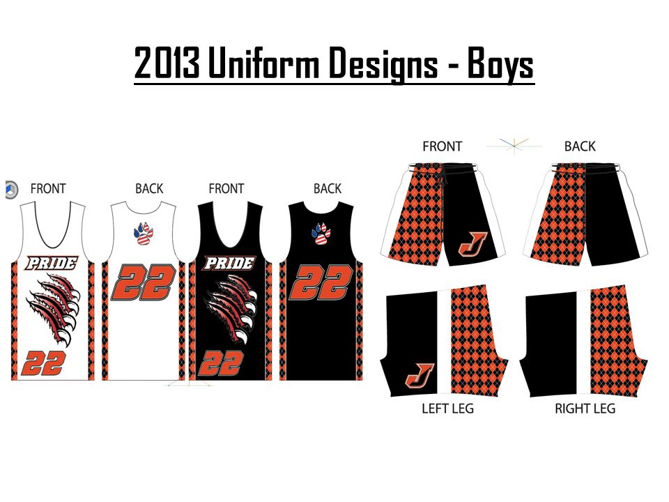 2013 Uniform Designs - Boys