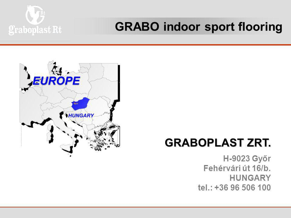 GRABO indoor sport flooring