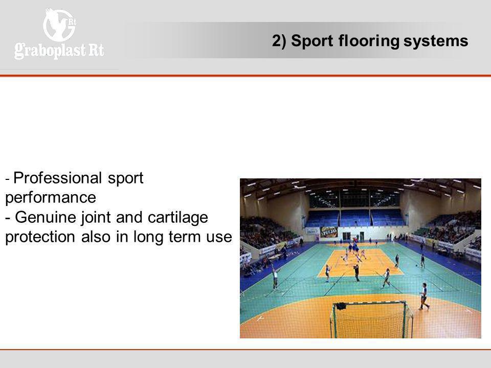 2) Sport flooring systems