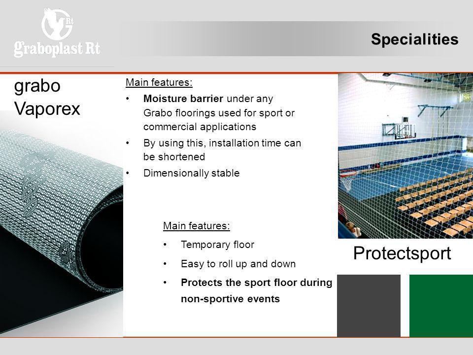 grabo Vaporex Protectsport Specialities Main features: