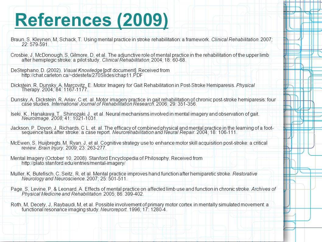 References (2009)