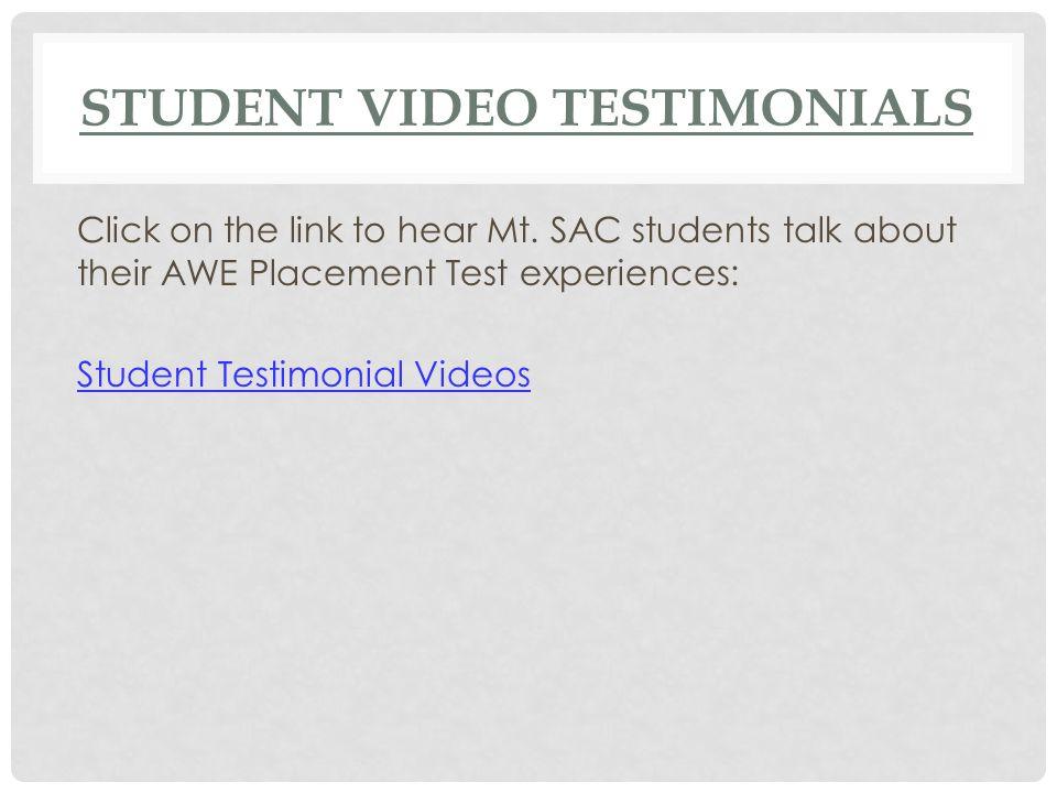 Student Video Testimonials