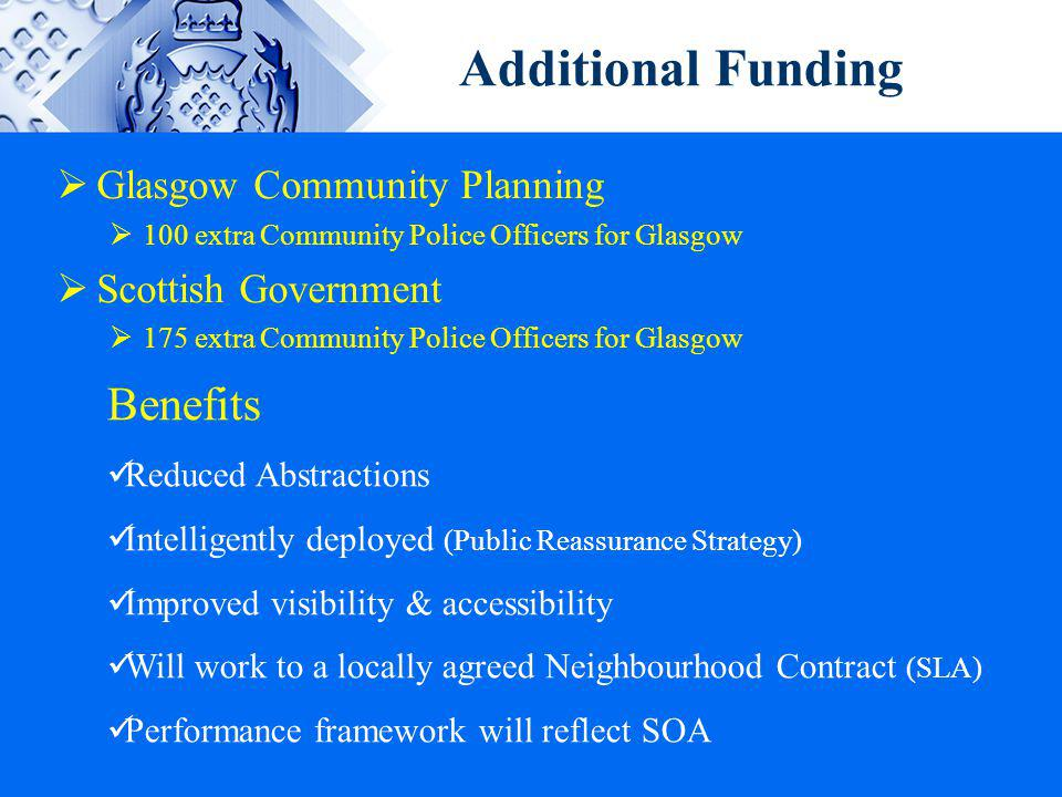 Additional Funding Benefits Glasgow Community Planning