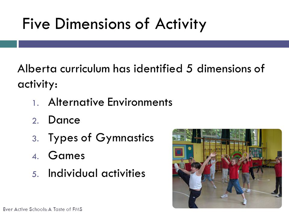 Five Dimensions of Activity