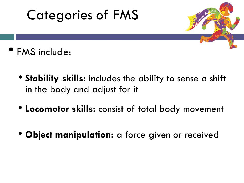 Categories of FMS FMS include:
