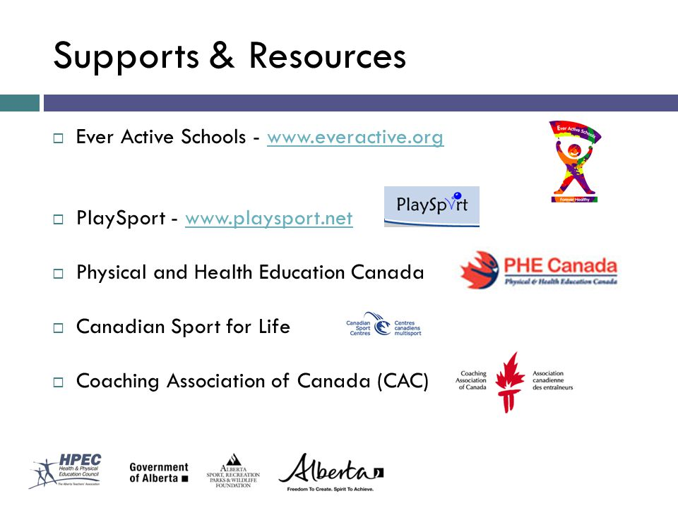 Supports & Resources Ever Active Schools - www.everactive.org