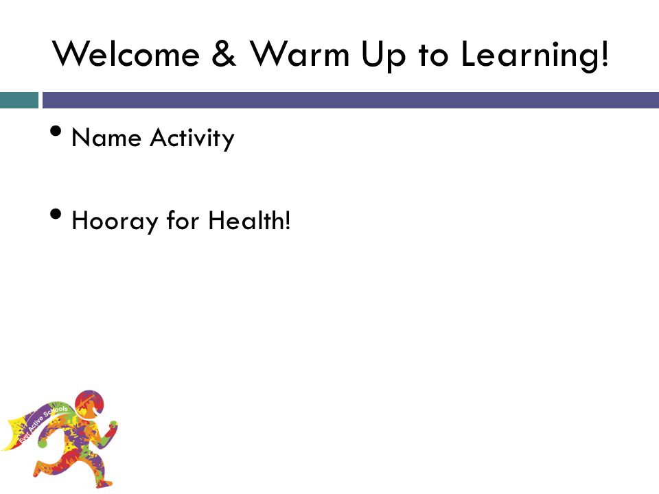 Welcome & Warm Up to Learning!