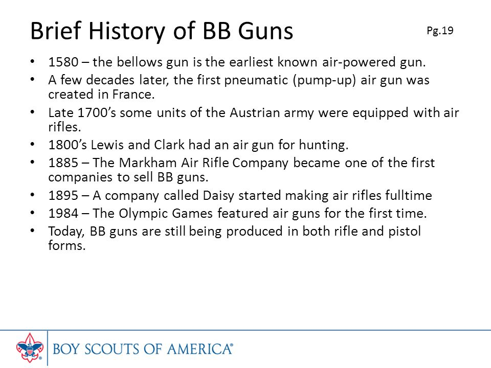 Brief History of BB Guns
