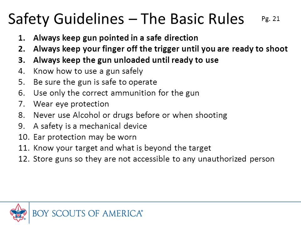 Safety Guidelines – The Basic Rules