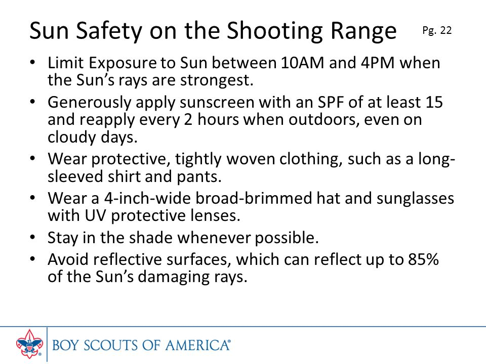 Sun Safety on the Shooting Range