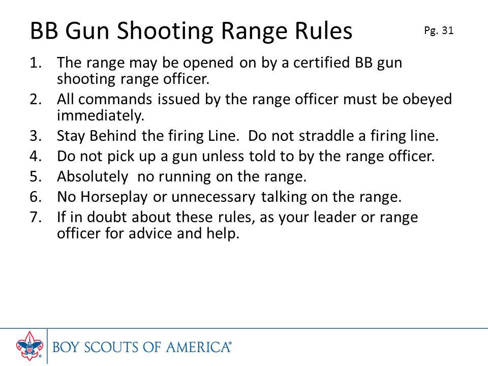 BB Gun Shooting Range Rules