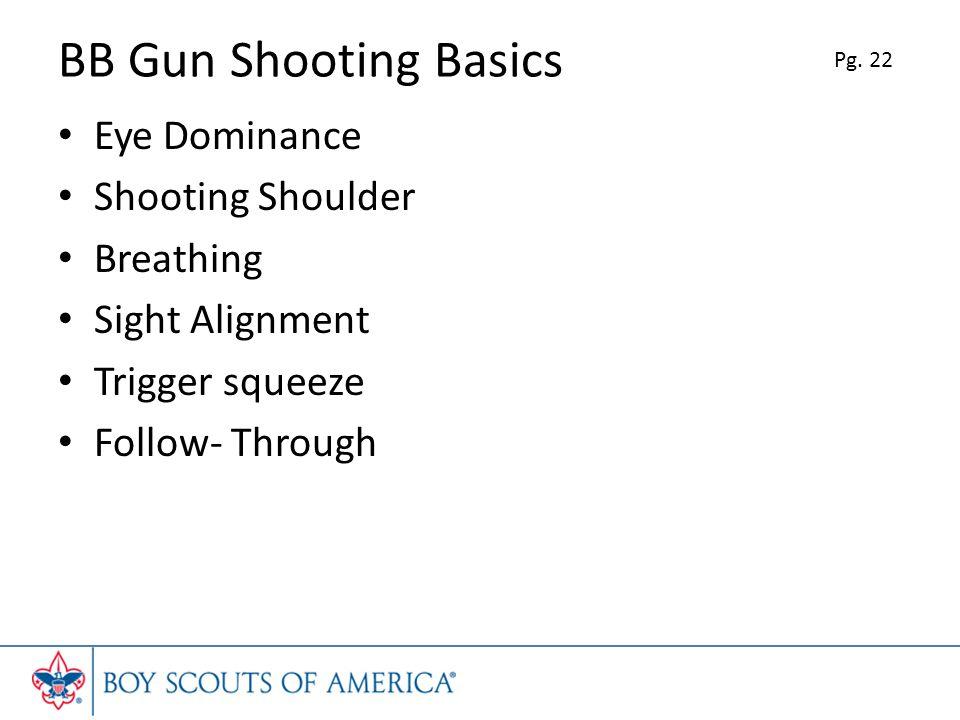BB Gun Shooting Basics Eye Dominance Shooting Shoulder Breathing