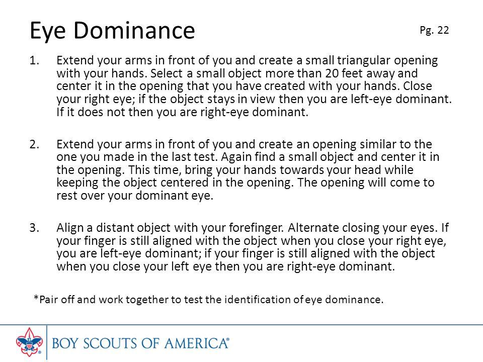 Eye Dominance Pg. 22.